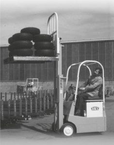 Wózek widłowy yale 1950r