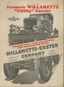 Pierwszy wózek Willamette Utility Carrier