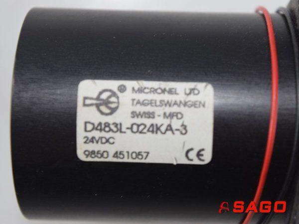 Kalmar Silniki elektryczne i części do silników - Typ: 922825.0023 FLAKT D483L-024KA-3 24VDC